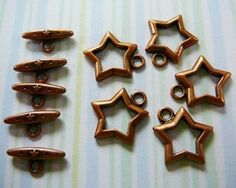 Copper Toggle Clasp Star 5 by dibabeads on Etsy, $3.00
