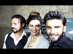 LOVEBIRDS Ranveer Singh & Deepika Padukone at screening of MADAARI movie.