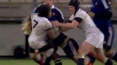 Le superbe plaquage de Marjorie Mayans sur l'Anglaise Margaret Alphonsi - Le Rugbynistere - 06/02/2014