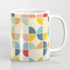 Buy Geometric Pizza Shaped Circles Pattern Coffee Mug by Decorata. Worldwide shipping available at Society6.com. Just one of millions of high quality products available. Pizza Shapes, Circle Pattern, Meet The Artist, Drinkware, Circles, Coffee Mugs, Ceramics, Artwork, Design