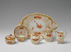 Königliche Porzellanmanufaktur Berlin, Ca. 1768.A Berlin KPM porcelain solitaire with scenes after Watteau, Auction 1065 The Berlin Sale, Lot 8 #KPM #porcelain #porzellan