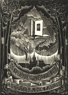 Joseph Váchal, Ex libris, CS Spolek Sberatelu, 1922 Almost Always, Coat Of Arms, Book Worms, Famous People, Badge, Book Covers, Illustration, Joseph, Artist