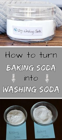 'How to turn baking soda into washing soda - myCleaningSolutions.com...!' (via Cleaning Solutions for you and your home)