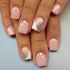 70 Cute Pink Nail Art Designs for Beginners - Easy Nail Designs Cute Pink Nails, Pink Nail Art, Fancy Nails, Pretty Nails, Nude Nails, Acrylic Nails, Gel Nail, Shellac, Nail Polish