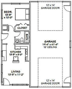 34x42-1-RV-Garage-1-Bedr-1-Bath-1-400-sq-ft-PDF-Floor-Plan-Model-2E