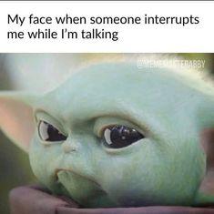 Baby Onesies Star Wars - - Baby Fever Names - - Baby Reveal Social Media - Baby Tips Newborn Funny Shit, Yoda Funny, Yoda Meme, Crazy Funny Memes, Funny Video Memes, Really Funny Memes, Stupid Memes, Funny Jokes, Hilarious