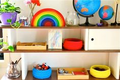 A Montessori inspired environment for our peaceful, loving home.