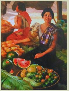 Fernando Amorsolo Fruit Gatherer - Best Image Of Amazinglive. Pictures To Paint, Old Pictures, New Artists, Great Artists, Filipino Art, Philippine Art, Philippines Culture, Fruit Painting, Classic Paintings