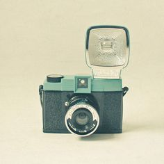 Sweet Diana - Camera photography, powder blue, black, retro home decor, gift for husband, teenage room decor