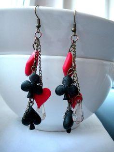 polymer poker earrings
