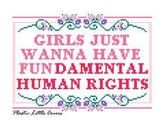 Girls Just Wanna Have Fundamental Human by plasticlittlecovers