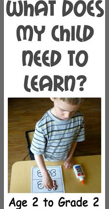 What Does My Child Need to Learn?