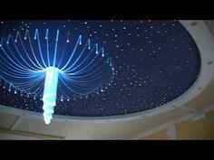 Oświetlenie sali weselnej - lampy LED - oświetlenie sufitu - gwieździste niebo - mgławice - YouTube