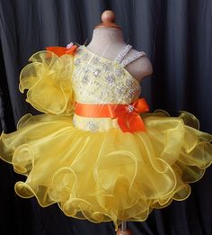 A personal favorite from my Etsy shop https://www.etsy.com/listing/289601455/handmade-pageant-dress-for-infant