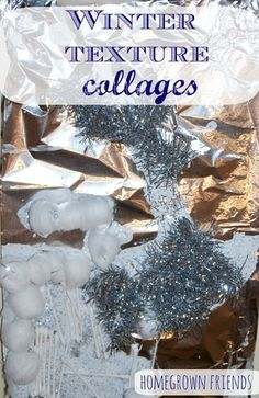 winter texture collages