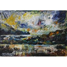 Wild day at Rosbeg - Painting of Rosbeg, Co. Donegal by Irish artist Stephen Bennett.