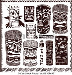 tiki face symbols and meanings - Google Search