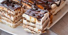 Torta di biscotti fredda alla nutella e ricotta Food Cakes, Sweet Recipes, Cake Recipes, Latte, Portuguese Desserts, Italian Cake, Cooking Cake, Cake & Co, Icebox Cake
