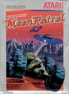 Moon Patrol Atari 2600 Front Cover