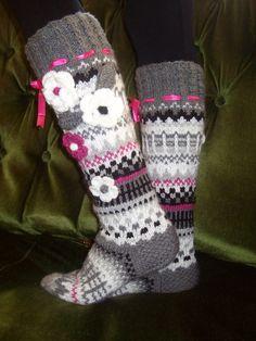 Crochet Socks, Knitting Socks, Hand Knitting, Wool Socks, Boot Cuffs, Knee Socks, Sock Yarn, Christmas And New Year, Slippers