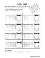 This is a great way to review ten frames, counting and number writing during your plant unit!