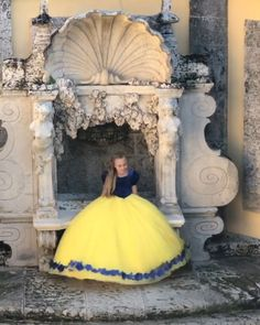 "disneyladies on Instagram: ""#Repost @kingdom.boutique • • • • • • Vizcaya Museum and Gardens Kingdom Boutique in Miami, Florida! Snow White dress 😍 . #flowergirl…"" Baby Disney Characters, Fictional Characters, Snow White Dresses, Aurora Sleeping Beauty, Miami Florida, Disney Princess, Museum, Gardens, Victorian"