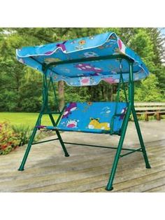 Lawn and Garden 40145: Kids Canopy Swing Bench (Available In A Pack Of 1) -> BUY IT NOW ONLY: $101.7 on #eBay #garden #canopy #swing #bench