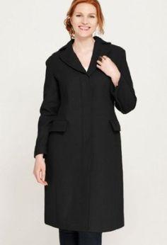 Avenue Plus Size Long Wool Solid Coat $74.96