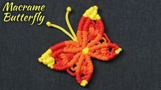 DIY Macrame Butterfly   Macrame Butterfly Wall Hanging Home Decor #3 Macrame Jewelry Tutorial, Macrame Art, Micro Macrame, Large Macrame Wall Hanging, Macrame Plant Hangers, Rope Crafts, Easy Stitch, General Crafts, Macrame Patterns