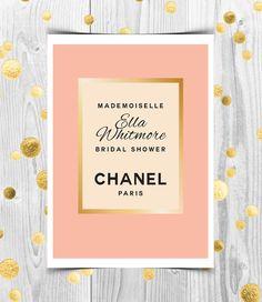 Coco Chanel Inspired Bridal Shower Invitation Printable