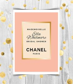 Coco Chanel Inspired Bridal Shower Invitation Printable