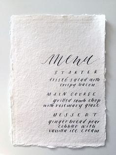 Miranda Writes is a calligraphy and wedding invitation design studio in Omaha, Nebraska by Miranda Griffiths. Plan My Wedding, Wedding Menu, Wedding Paper, Wedding Cards, Wedding Catering, Wedding Gowns, Woodsy Wedding, Catering Menu, Wedding Ideas