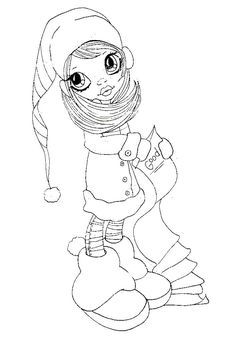 Saturated Canary Coloring Book Coloring Pages Christmas Coloring Pages, Coloring Book Pages, Digital Stamps Christmas, Scrapbook Images, Copics, Christmas Colors, Big Eyes, Creations, Sketches
