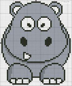 cross stitch patterns hippopotamus | Click on Cartoon Hippo pattern in blocks to enlarge.