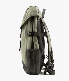 グリーンポリウレタン・ポリエステルバックパック RUNNER BAG | RAINS レインズ | メンズ - バッグ(Bag) - バックパック | Green | 海外通販ならLASO(ラソ)