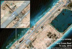 Fiery Cross close-up. Spratlys.  https://medium.com/satellite-image-analysis/china-s-ambitious-military-buildup-on-fiery-cross-reef-south-china-sea-80a7525ba68d#.rjdd2phgs