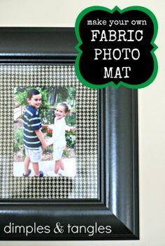 Dimples and Tangles: FABRIC COVERED PHOTO MATS