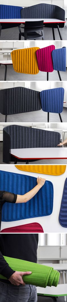 The PAIS is a vibrant cloth partitioning system that separates work-spaces, but in a much more beautiful and enriching way. The vibrant colors brighten your day and keep your moods lifted while the soft texture is therapeutic to look at and relaxing to touch. Plus, it even comes with a magnetic pin-board, allowing you to customize your work-space with important notes, or family/pet pictures.