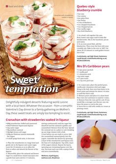 ~ Sweet temptation ~ Delightful dessert recipes to try anytime... #locallife #Haslemere #Surrey #food #recipes #desserts #sweet #treats