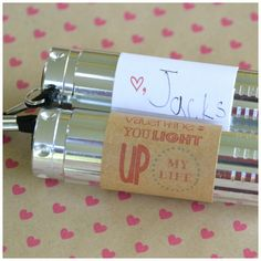 "Valentines day gift for classmates - attach note to flashlight saying ""you light up my life""! All kids like flashlights, right?!"