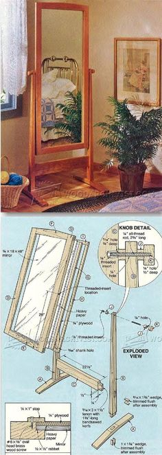 Cheval Mirror Plans - Furniture Plans and Projects | WoodArchivist.com