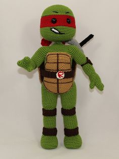 Ravelry: Teenage Mutant Ninja Turtle RAPHAEL pattern by ilknur Karaca