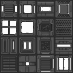 ArtStation - Neon Shadow Tile Concepts, Luke Viljoen
