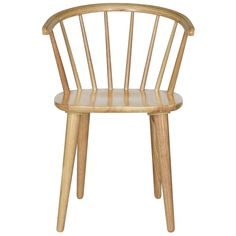 Safavieh Country Classic Dining Blanchard Natural Wood Side Chairs (Set of 2)