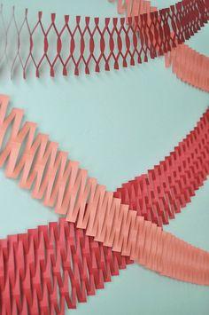 Paper Net Garland DIY | Oh Happy Day!