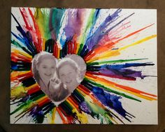 Melted Crayon Art #melted #crayon #heart