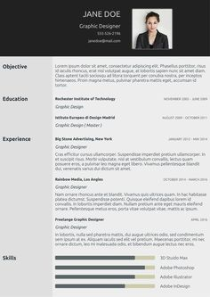 Classic cv template from cvzilla.com  Enjoy creating your awesome resume!