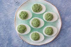 Spinach & Cheese Stuffed Eggs