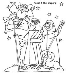 Free christmas shepherds coloring pages ~ 1000+ images about Jesus drawings on Pinterest ...