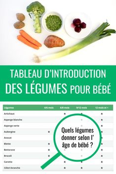 tableau-dintroduction-des-legumes-pour-bebe/ - The world's most private search engine Baby Food Recipes 6 9, Baby Puree Recipes, Pureed Food Recipes, 9 Month Old Baby Food, Baby Food By Age, Green Bean Baby Food, Baby Food Game, Banana Baby Food, Baby Food Jar Crafts